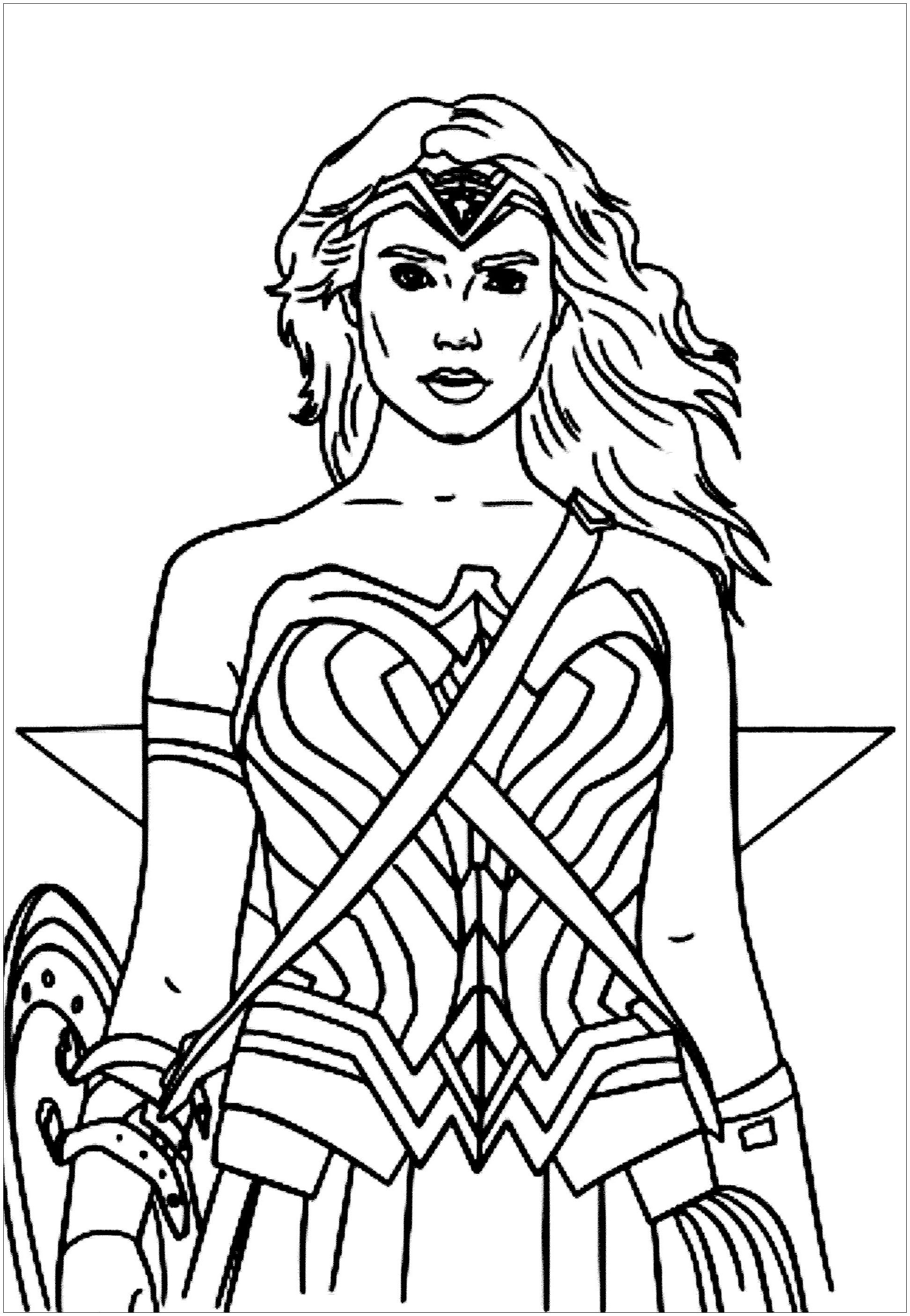 wonder woman cartoon coloring pages wonder woman coloring pages to download and print for free pages coloring wonder cartoon woman