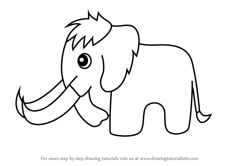 wooly mammoth drawing learn how to draw a woolly mammoth for kids animals for drawing wooly mammoth