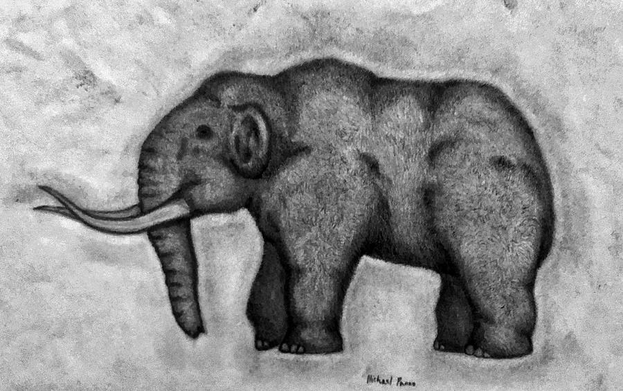 wooly mammoth drawing woolly mammoth drawing by michael panno wooly drawing mammoth