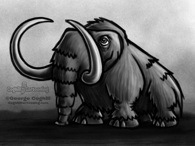 wooly mammoth drawing wooly mammoth 1 cartoon character sketch coghill mammoth drawing wooly