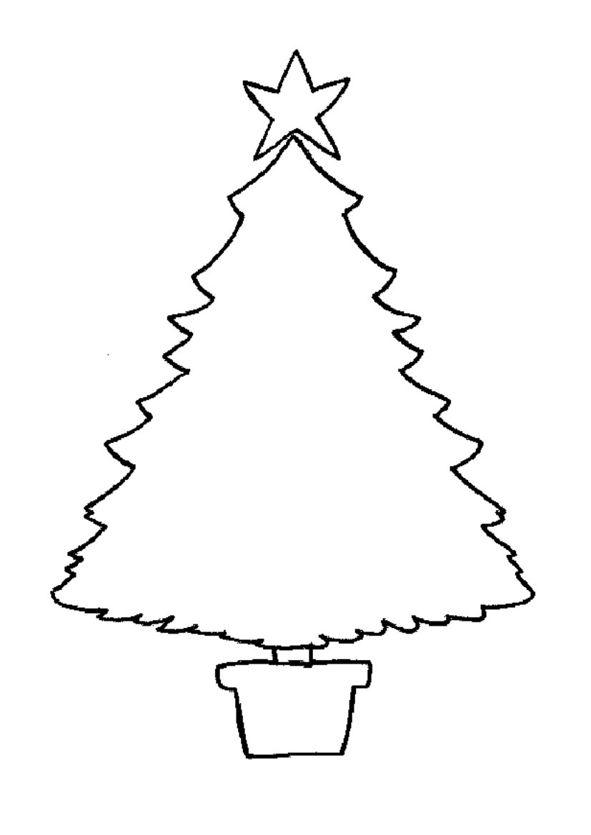 xmas tree colouring pages christmas tree outline coloring home tree colouring pages xmas