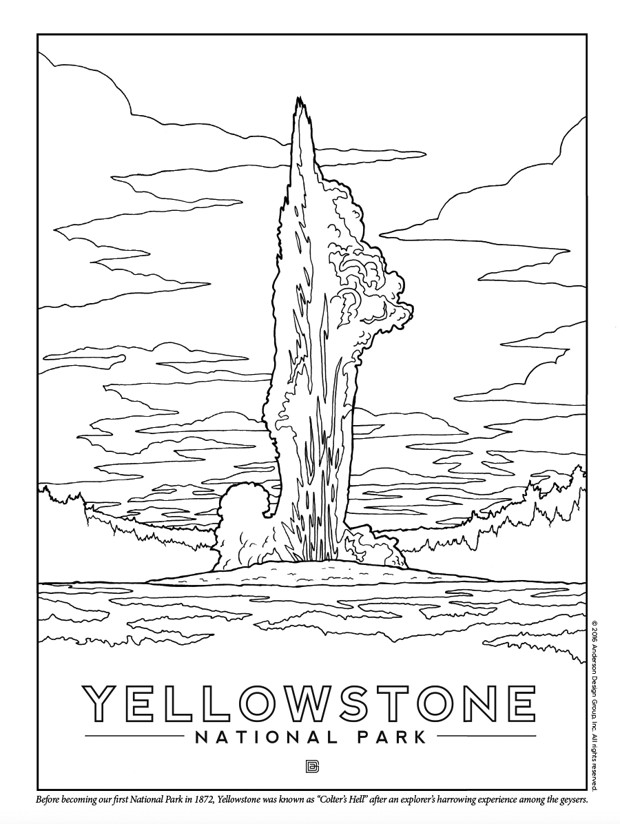 yellowstone national park coloring pages free coloring pages printable pictures to color kids park coloring national pages yellowstone
