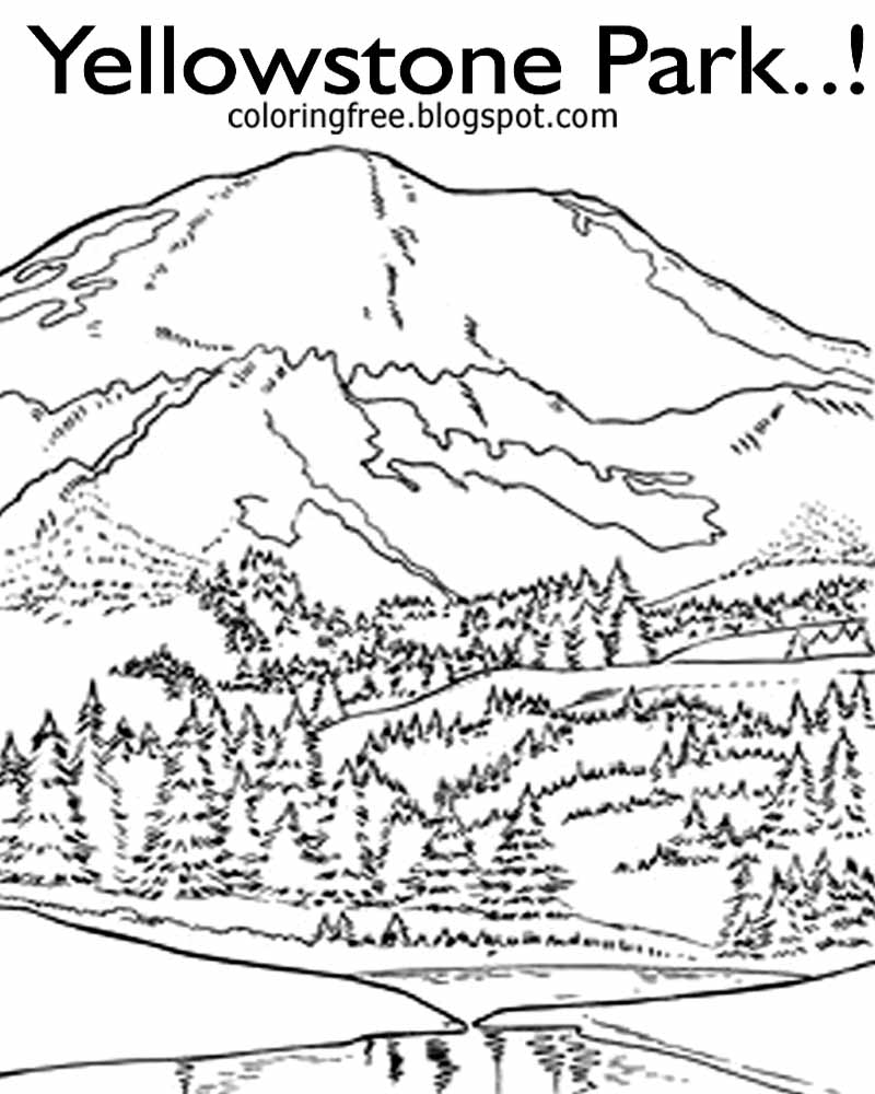 yellowstone national park coloring pages free coloring pages printable pictures to color kids yellowstone coloring park national pages