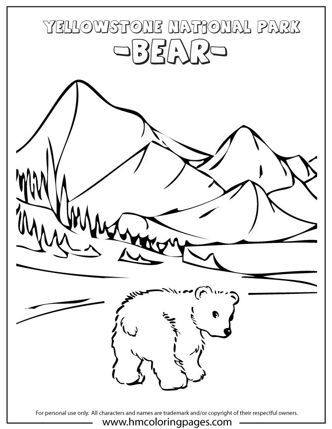 yellowstone national park coloring pages printable yellowstone park coloring american wildlife kids park coloring pages yellowstone national