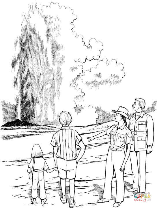 yellowstone national park coloring pages yellowstone national park coloring page coloring pages national park yellowstone coloring pages