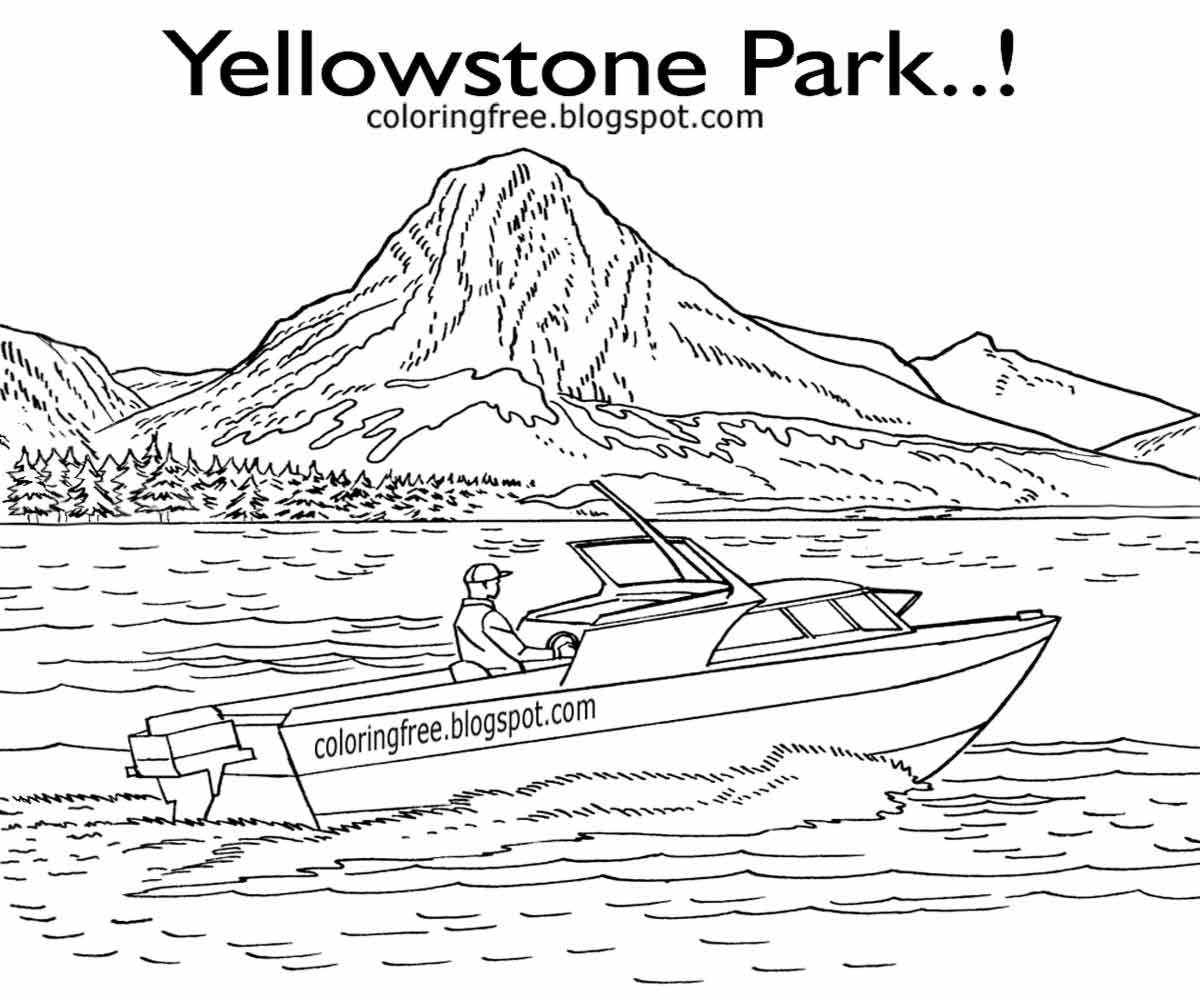 yellowstone national park coloring pages yellowstone national park coloring pages pages yellowstone national coloring park