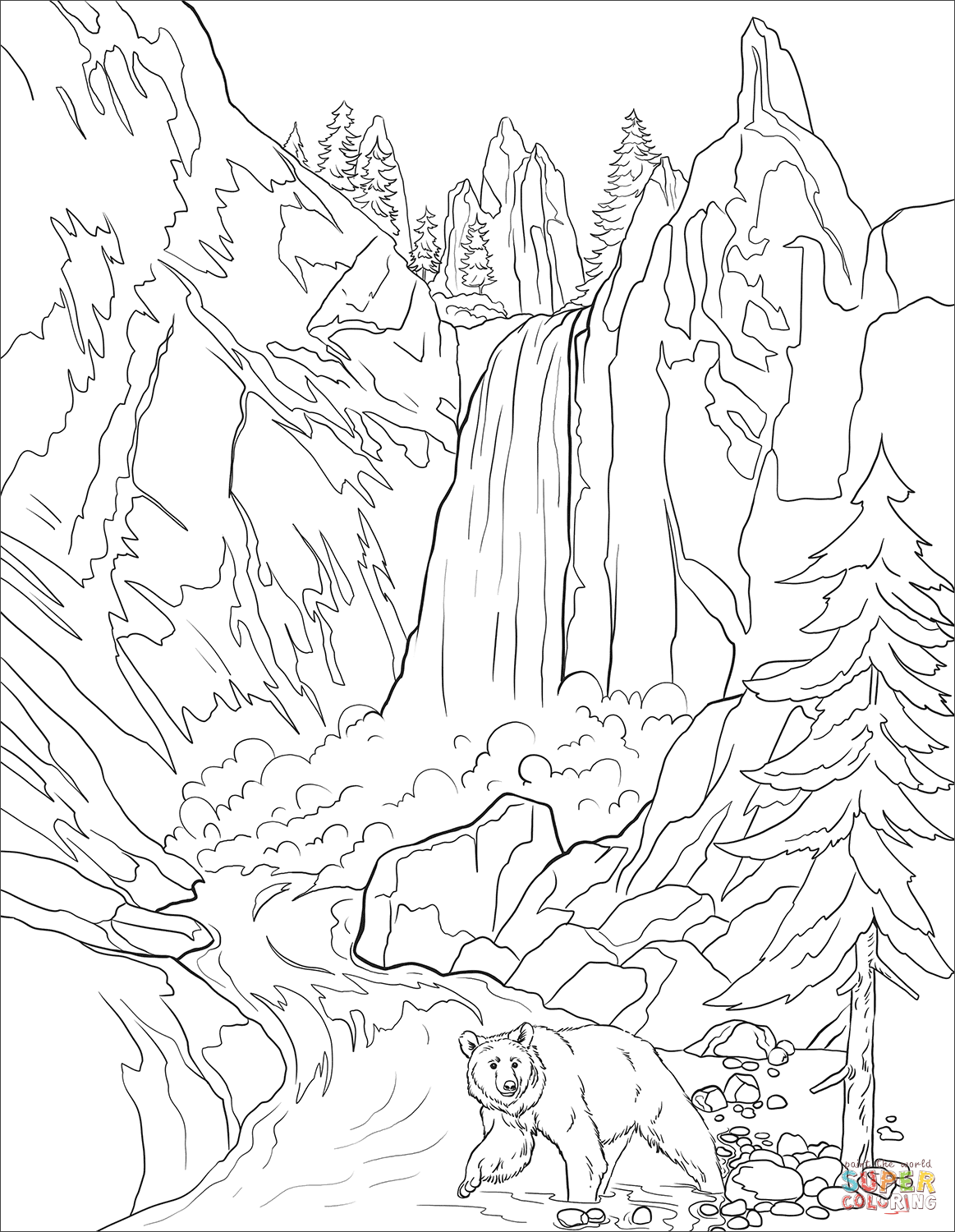 yellowstone national park coloring pages yellowstone national park geyser coloring page coloring coloring yellowstone pages national park