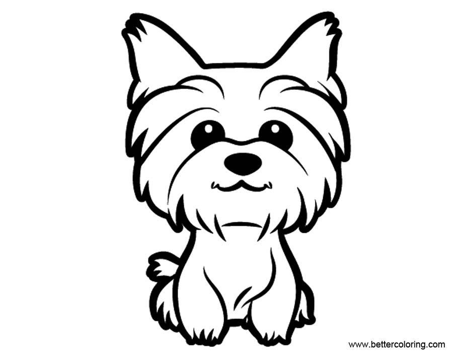 yorkie coloring sheet printable coloring pages yorkie printable template free sheet coloring yorkie