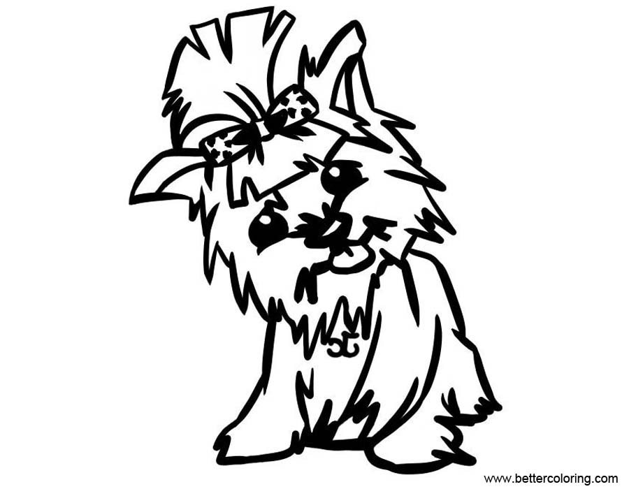 yorkie coloring sheet yorkie coloring pages easy drawing free printable coloring sheet yorkie