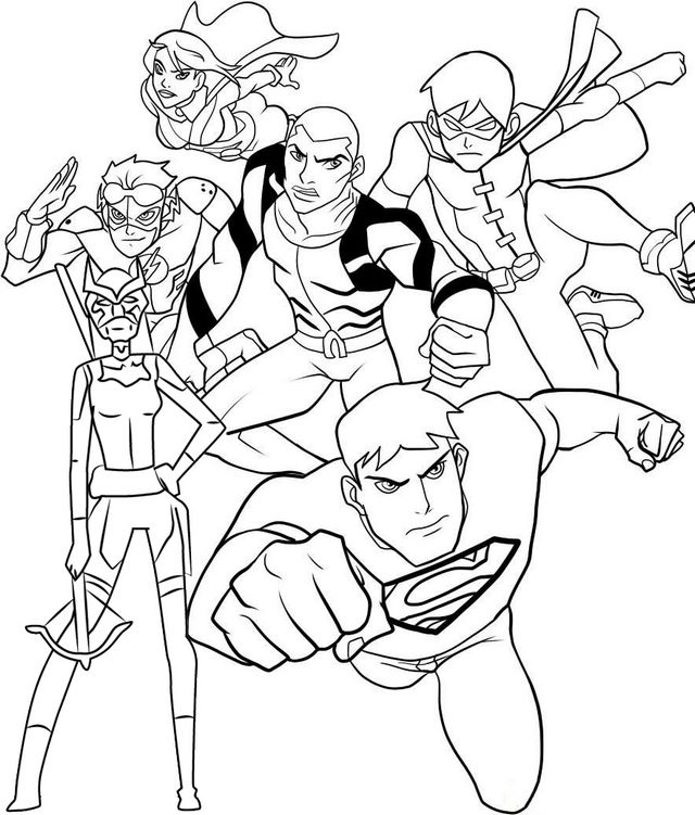 young marvel coloring book pin on young justice coloring pages book coloring young marvel