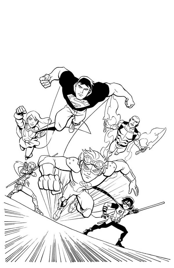 young marvel coloring book young justice league in action coloring page netart di 2020 marvel coloring book young