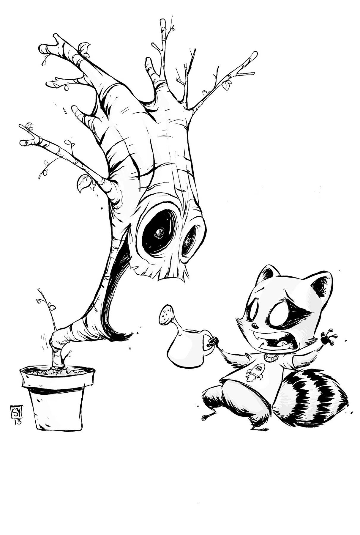 young marvel coloring pages i am groot 1 cover e skottie young black white variant coloring marvel pages young