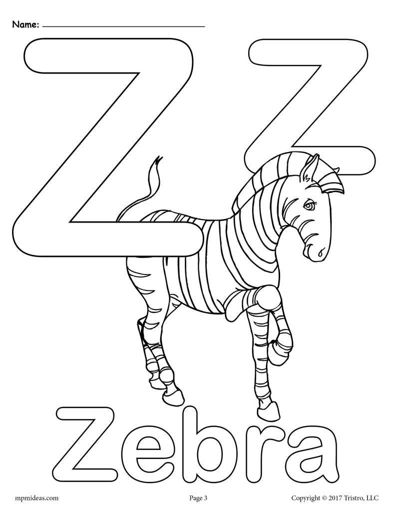 z coloring pages alphabet coloring pages pages z coloring