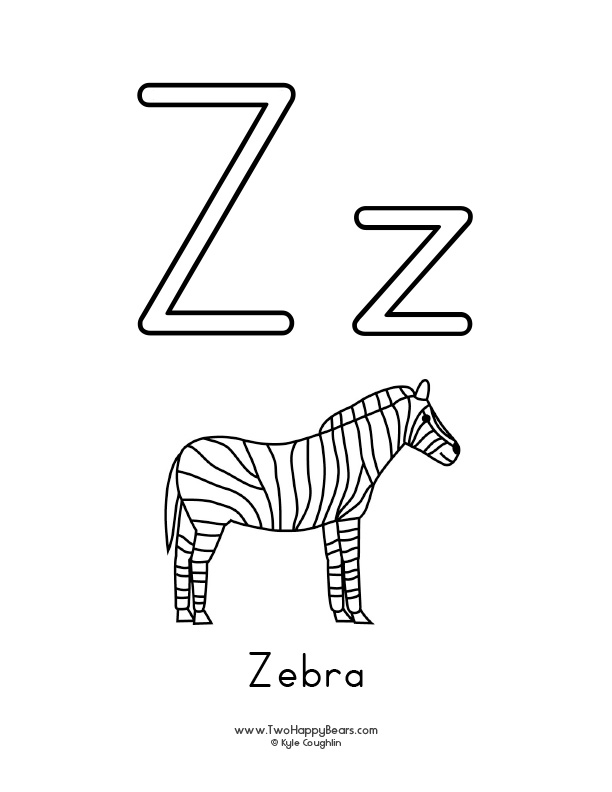 z coloring pages letter z coloring pages download and print letter z coloring pages z