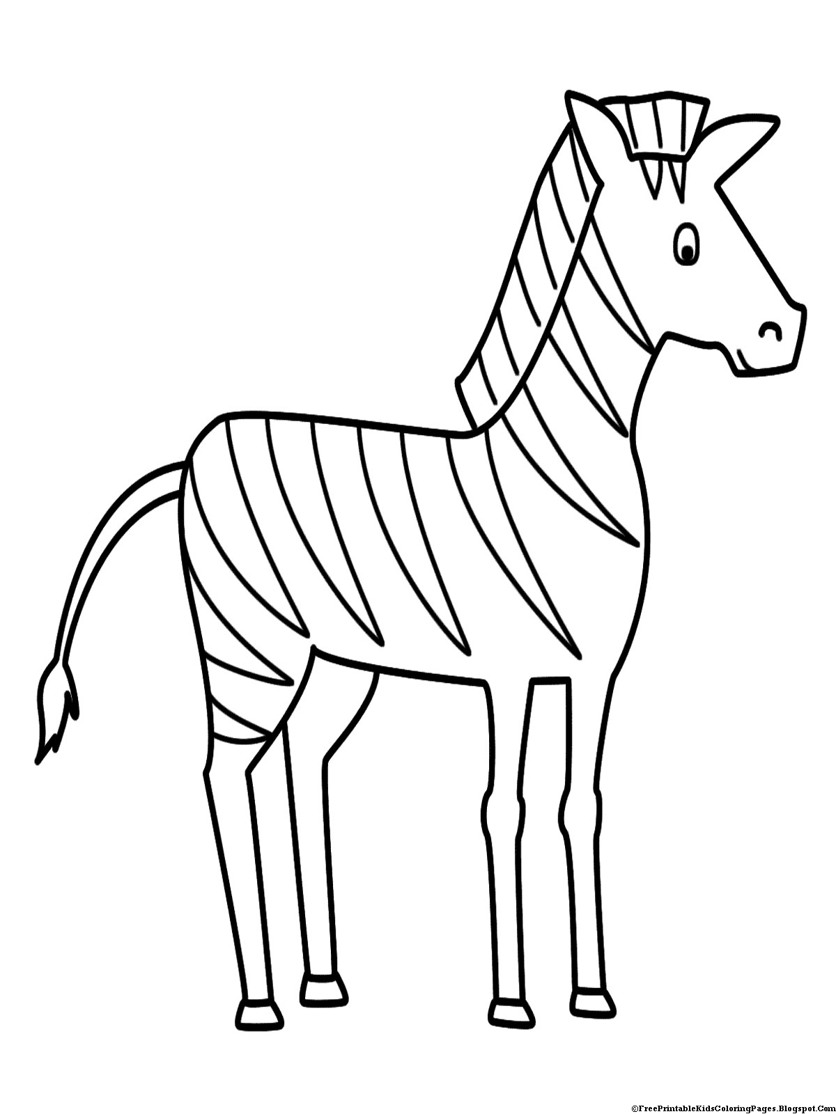 zebra color page free printable zebra coloring pages for kids zebra color page