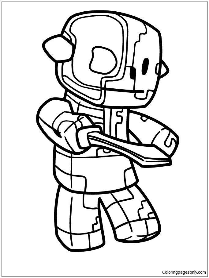 zombie pigman minecraft coloring pages free printable zombie pigman coloring picture pages coloring minecraft pigman zombie