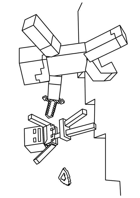 zombie pigman minecraft coloring pages free printable zombie villager coloring picture coloring pages pigman zombie minecraft