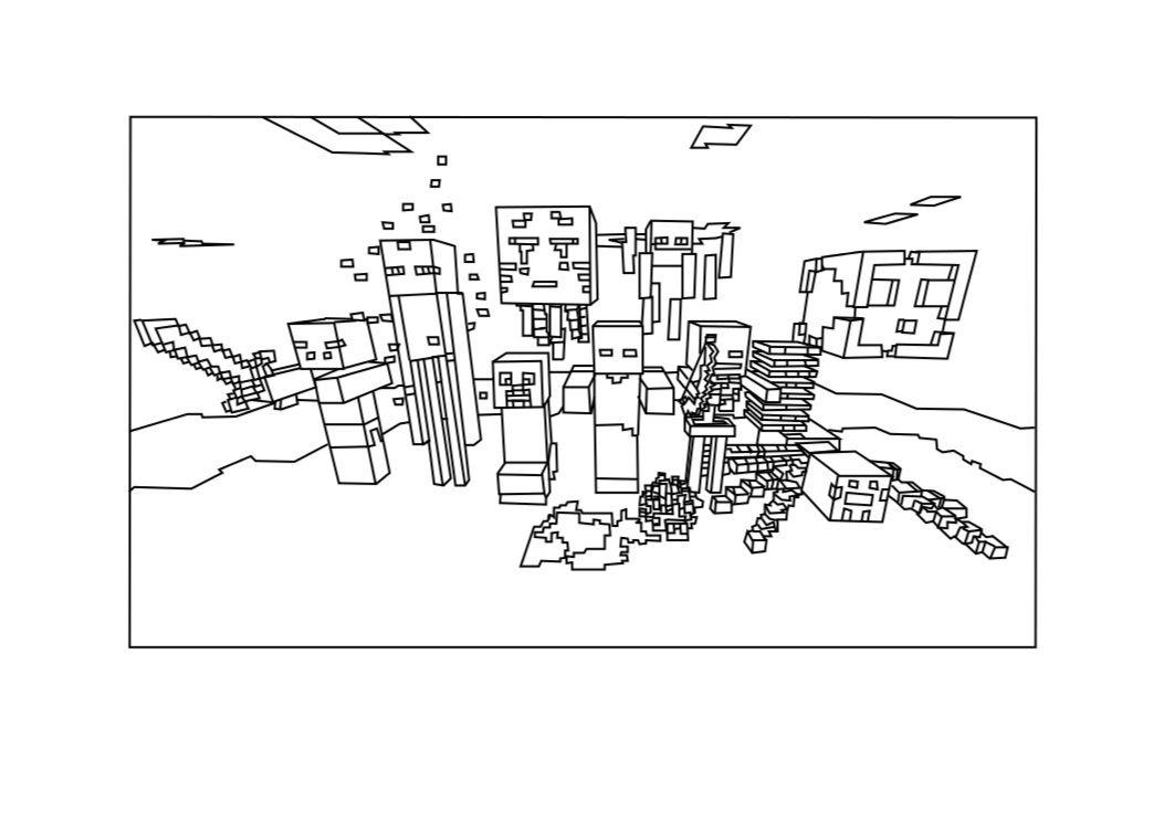 zombie pigman minecraft coloring pages minecraft zombie pigman coloring pages coloring home coloring pigman minecraft zombie pages