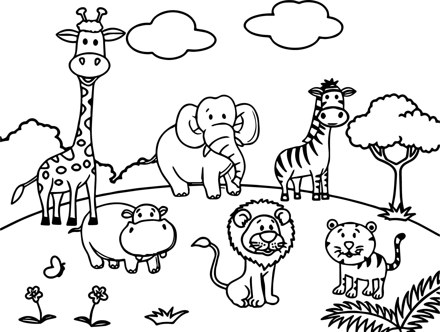 zoo animal coloring best zebra coloring pages for kids zebra coloring pages coloring zoo animal
