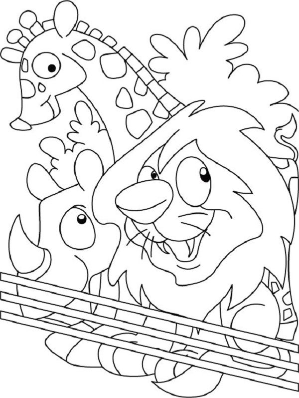 zoo animal coloring pages for preschool zoo animals preschool coloring pages kidsuki for pages zoo preschool animal coloring