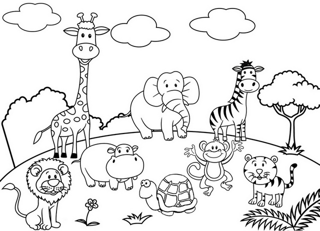 zoo animals coloring pictures 39 pdf printable zoo animal pictures printable hd docx zoo animals pictures coloring