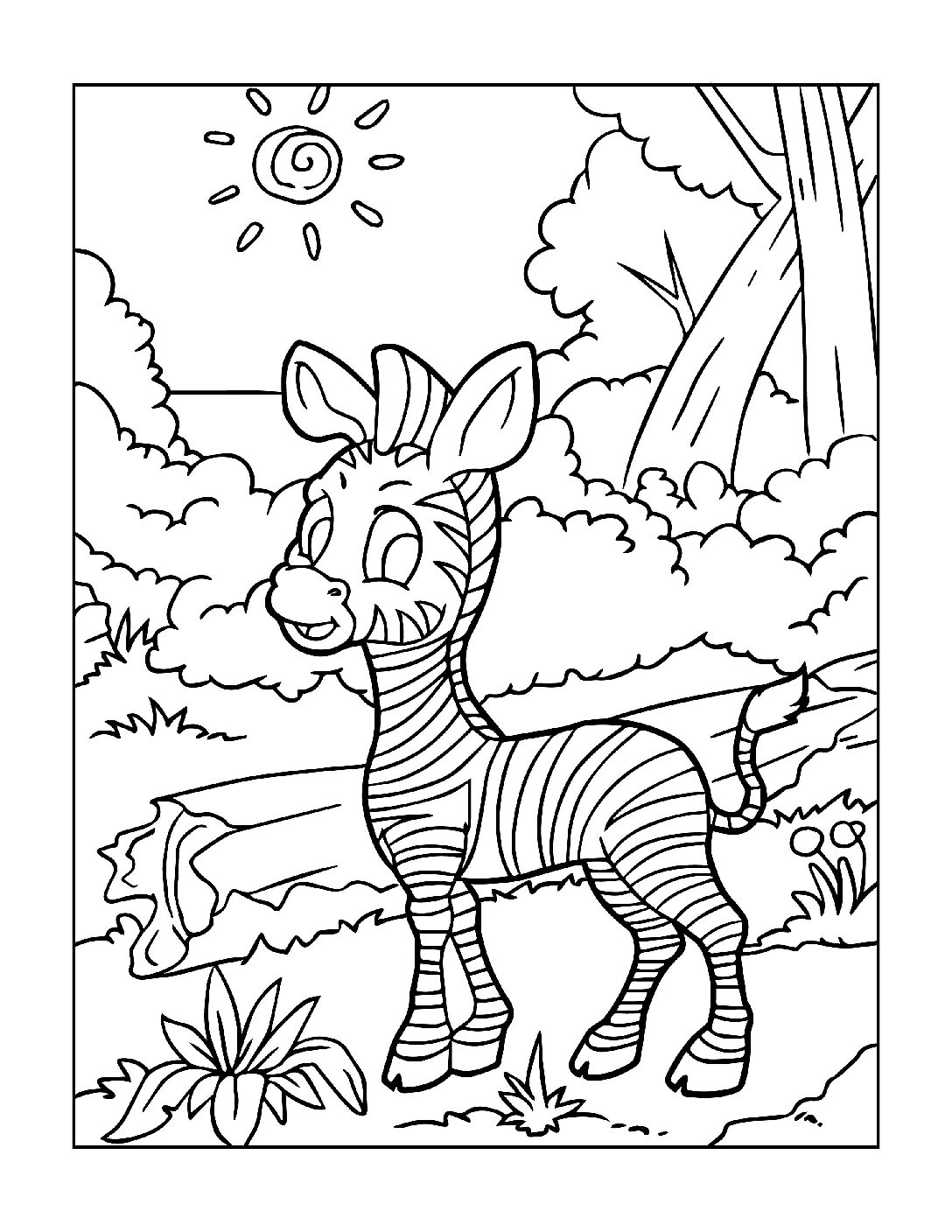 zoo animals colouring best zebra coloring pages for kids zebra coloring pages colouring zoo animals