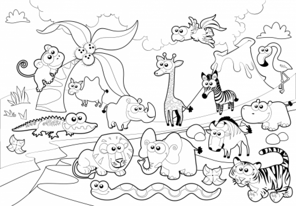 zoo animals colouring free zoo animals coloring pages animals zoo colouring