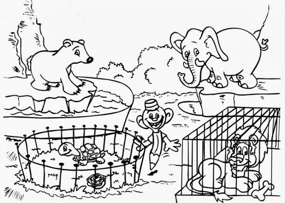 zoo coloring pictures for preschool free printable zoo coloring pages for kids preschool for zoo coloring pictures