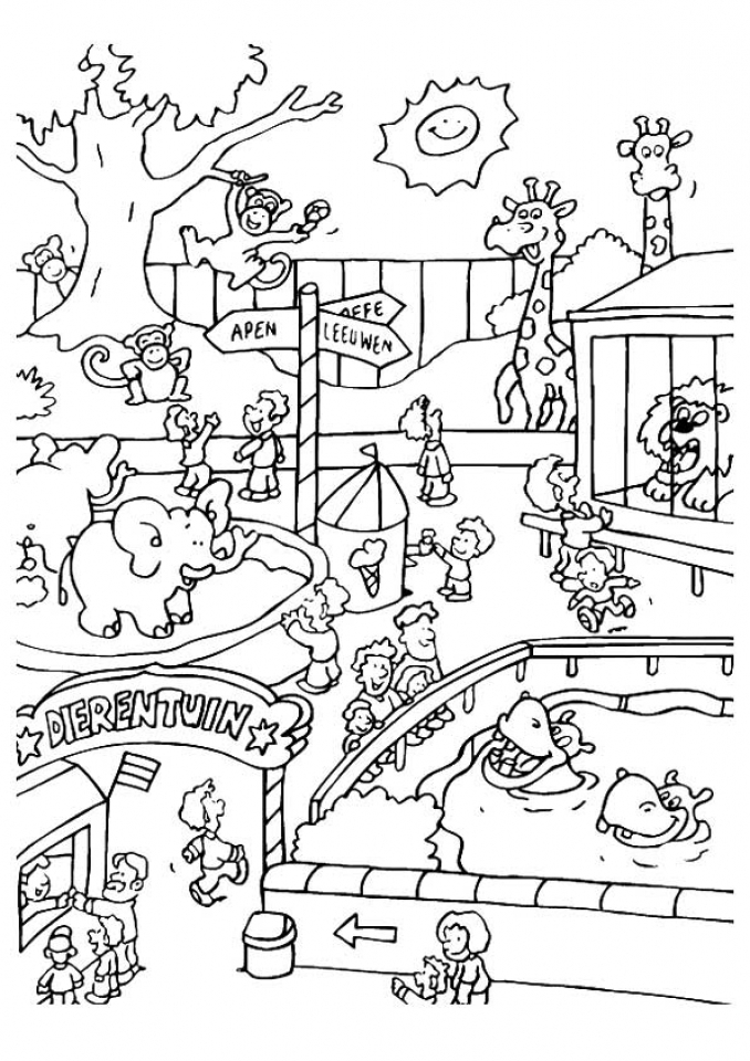 zoo coloring pictures for preschool get this easy preschool printable of zoo coloring pages for pictures preschool zoo coloring