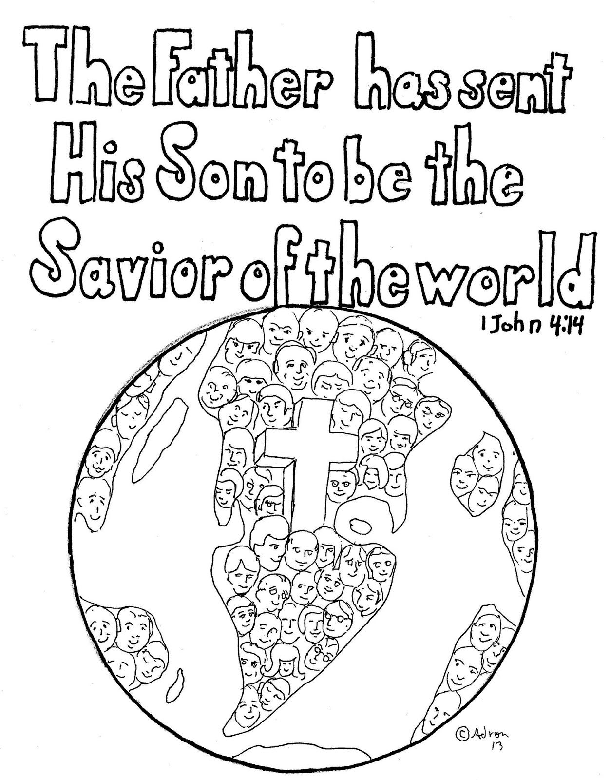 1 john 4 19 coloring page 1 john 414 free print and color page for kids and adults 4 page 19 john coloring 1