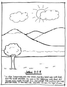 1 john 4 19 coloring page coloring pages scripture melodies 4 john coloring 19 page 1