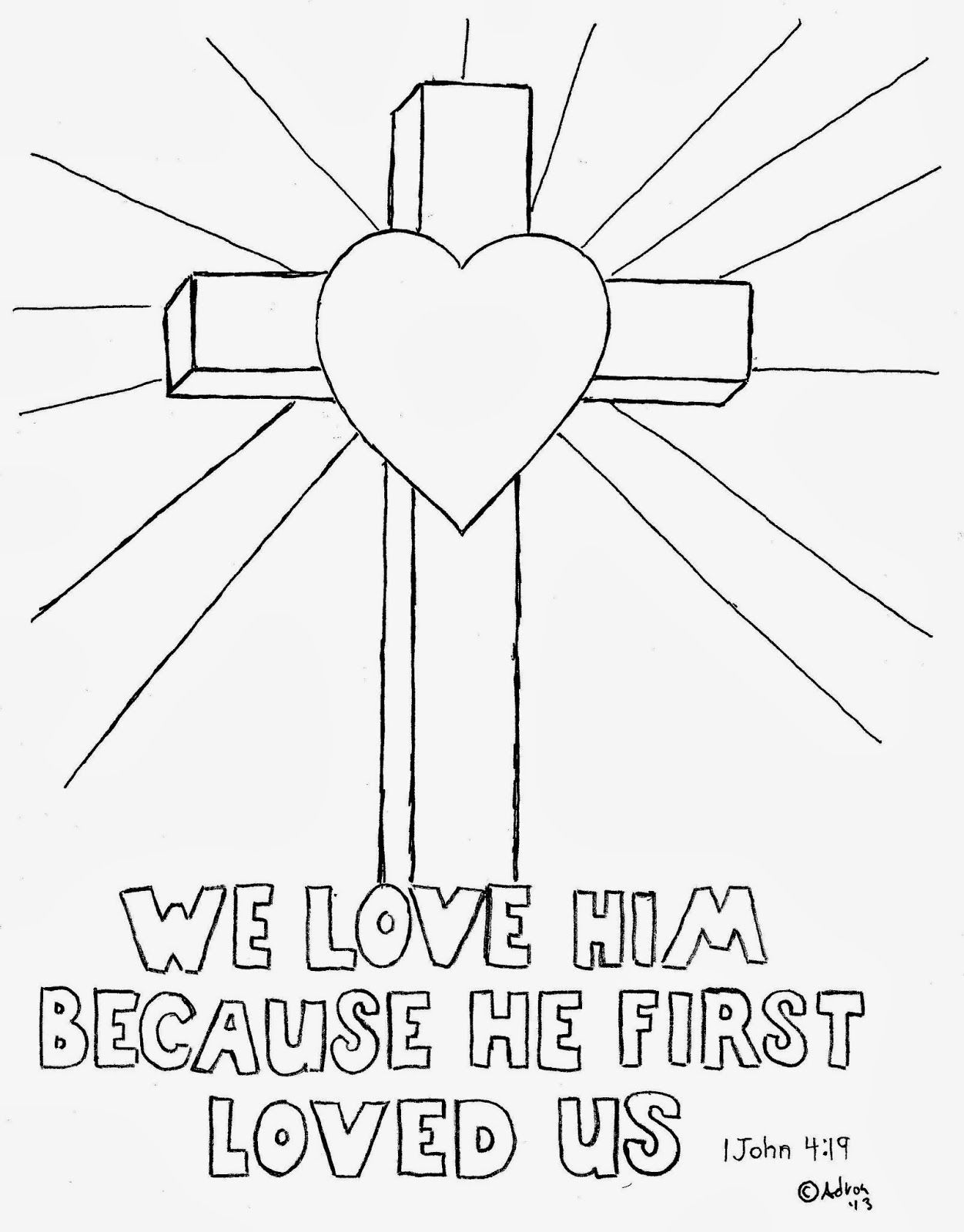 1 john 4 19 coloring page he loved you first 1 john 419 printable coloring page 4 page john coloring 19 1