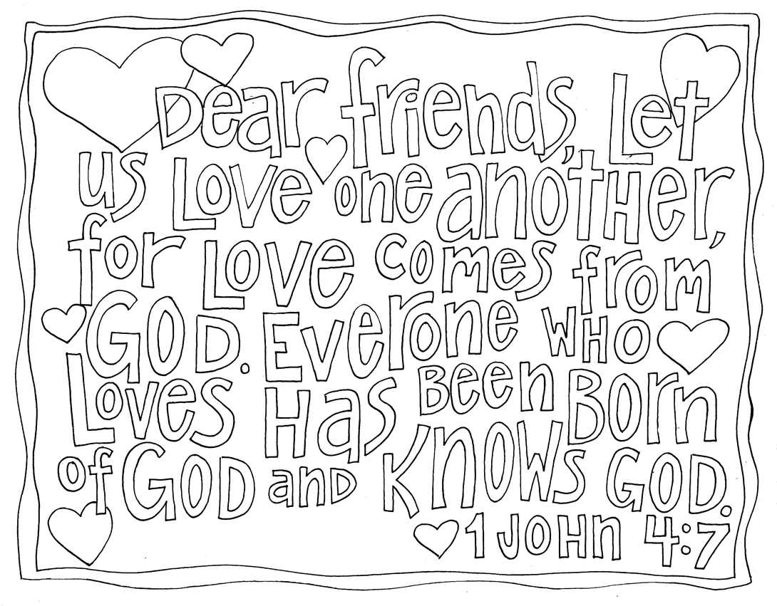 1 john 4 19 coloring page new coloring pages scripture doodle bible coloring coloring 4 19 john 1 page