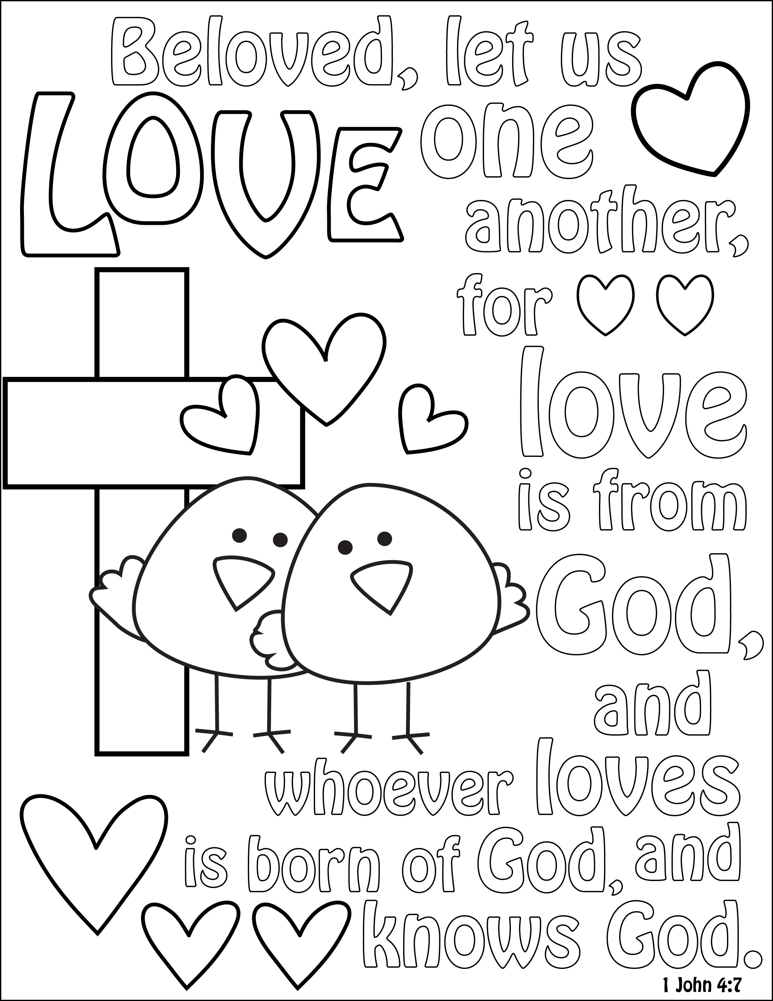 1 john 4 19 coloring page praying to god color sheet google search valentine page coloring 1 john 4 19