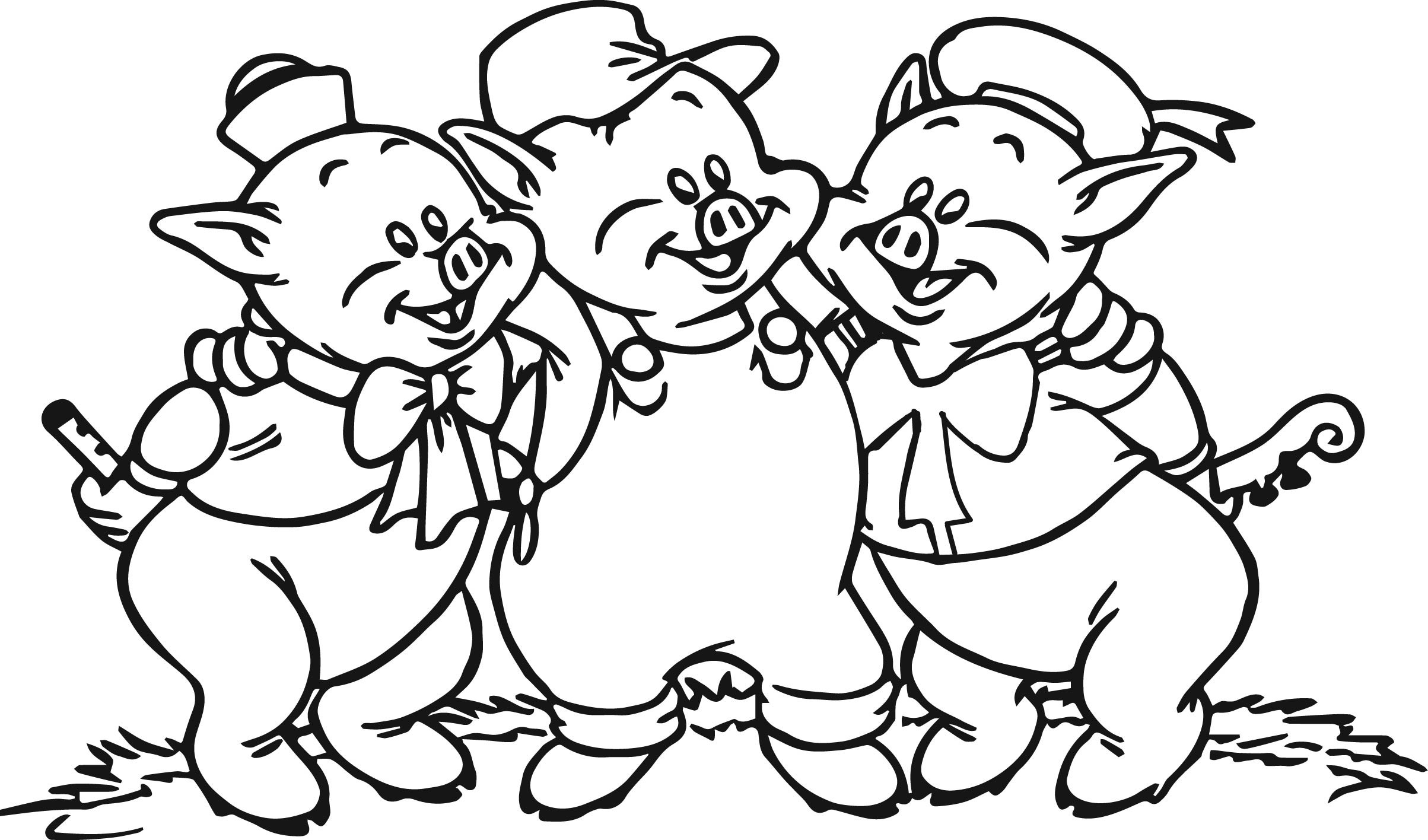 3 little pigs coloring page printable coloring pictures of the three little pigs coloring little pigs 3 page