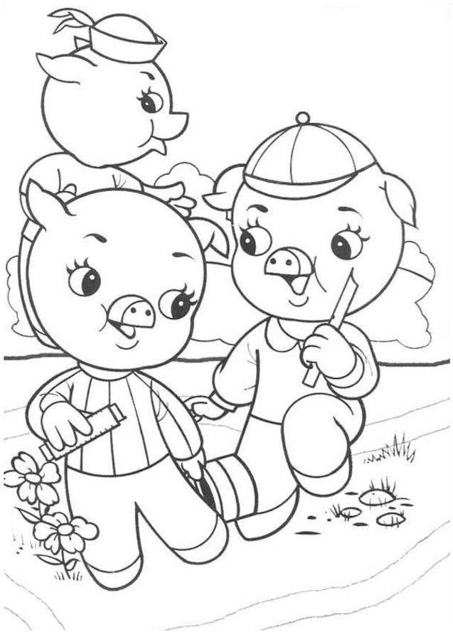 3 little pigs coloring page printable coloring pictures of the three little pigs little pigs coloring 3 page