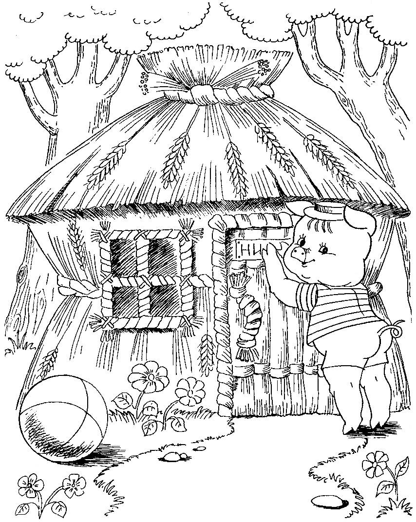 3 little pigs coloring page three little pig coloring page wecoloringpagecom page 3 pigs little coloring