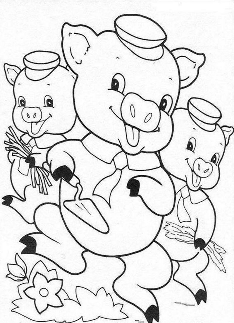 3 little pigs coloring page three little pig coloring pages coloring home pigs 3 little page coloring