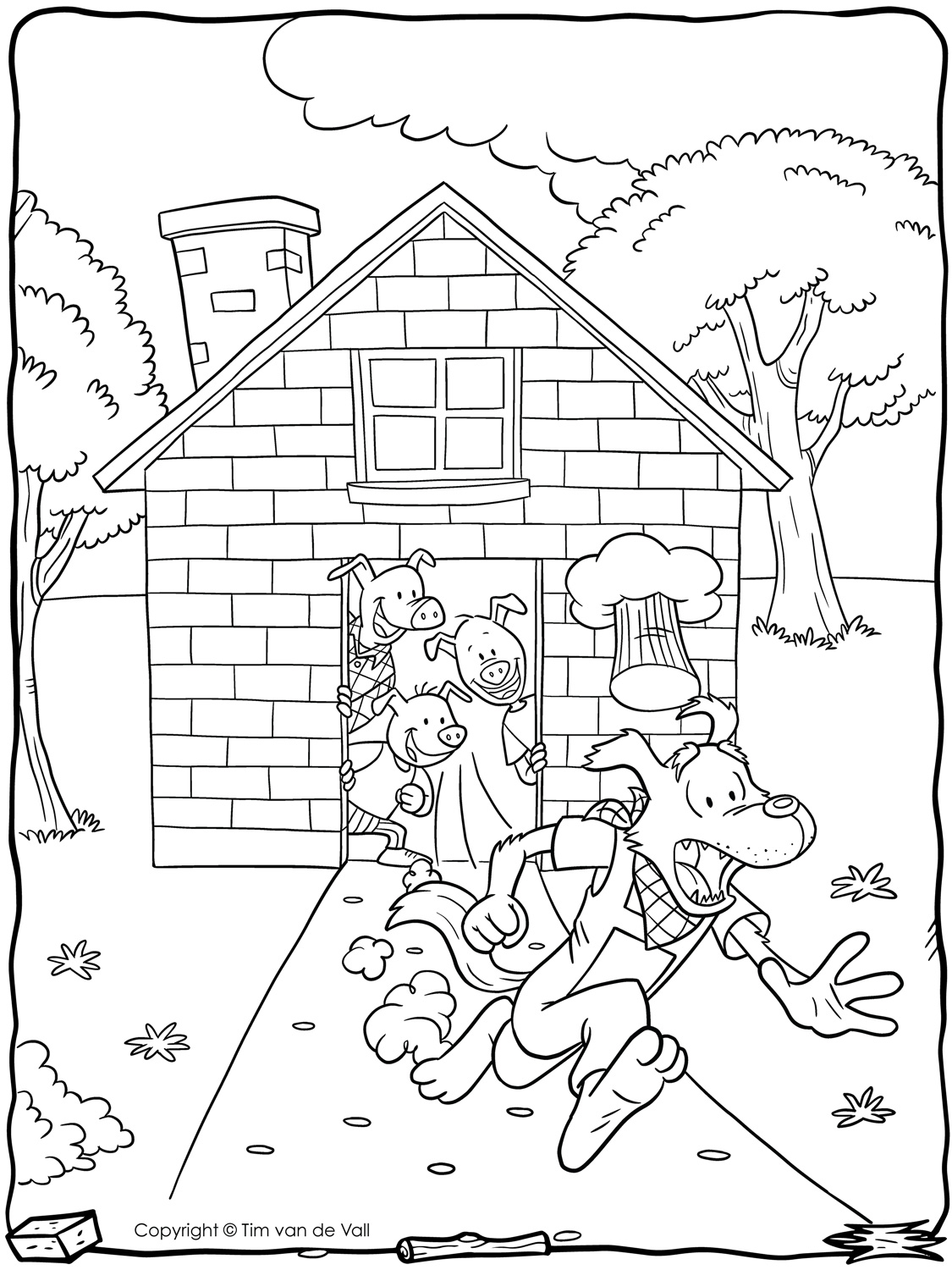 3 little pigs coloring page three little pigs coloring pages coloring pages to 3 pigs little page coloring