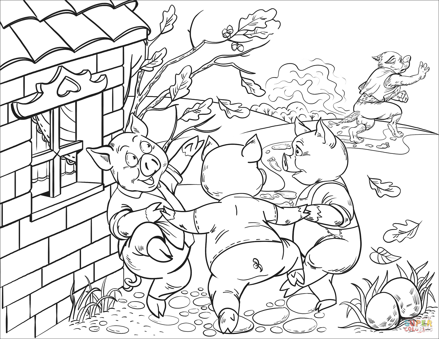 3 little pigs coloring page three little pigs coloring pages coloring pages to page 3 little pigs coloring