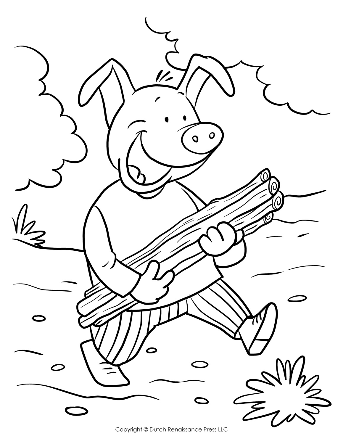 3 little pigs coloring page three little pigs coloring pages for childrens printable little page pigs 3 coloring
