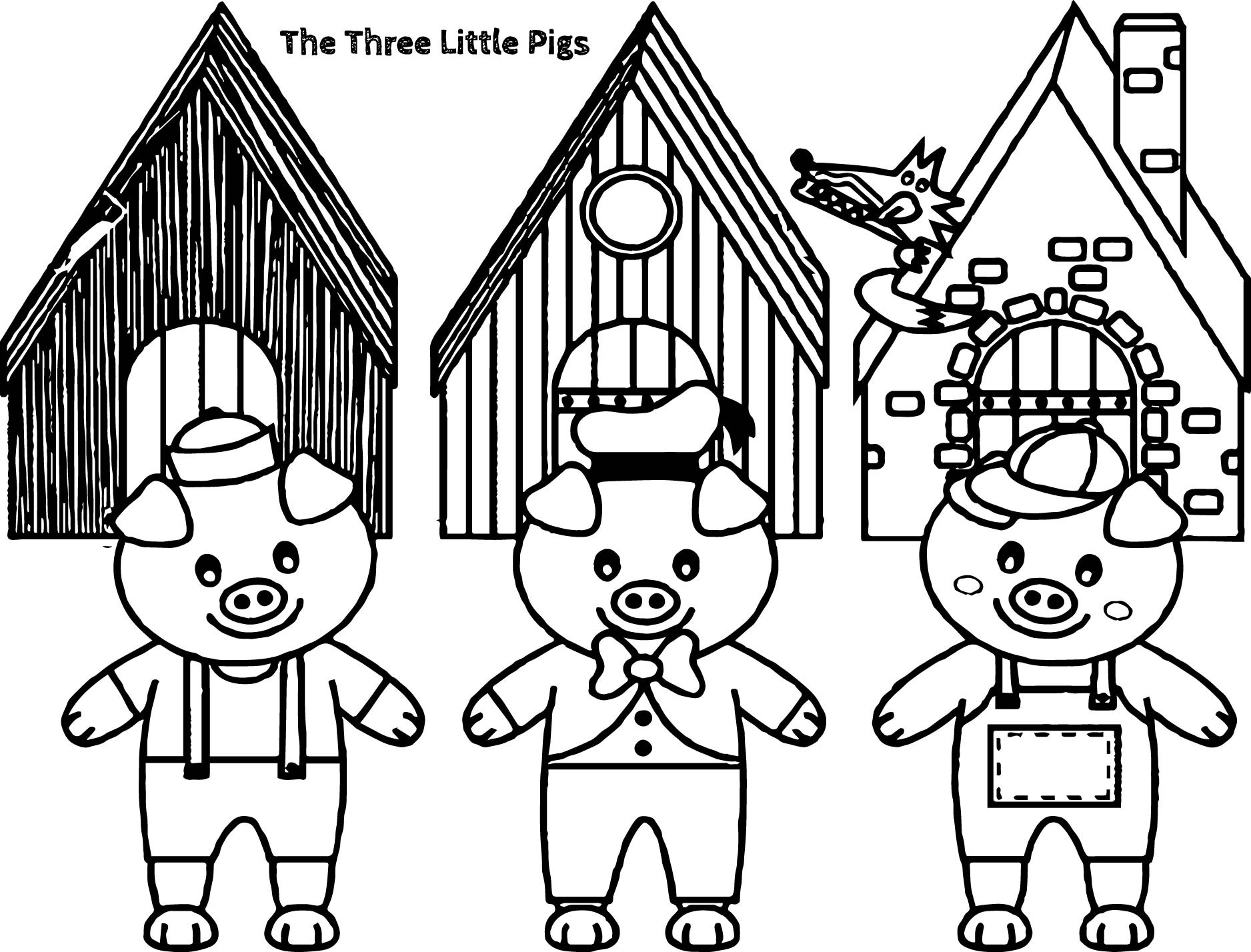 3 little pigs coloring page three little pigs coloring pages for childrens printable page little 3 coloring pigs