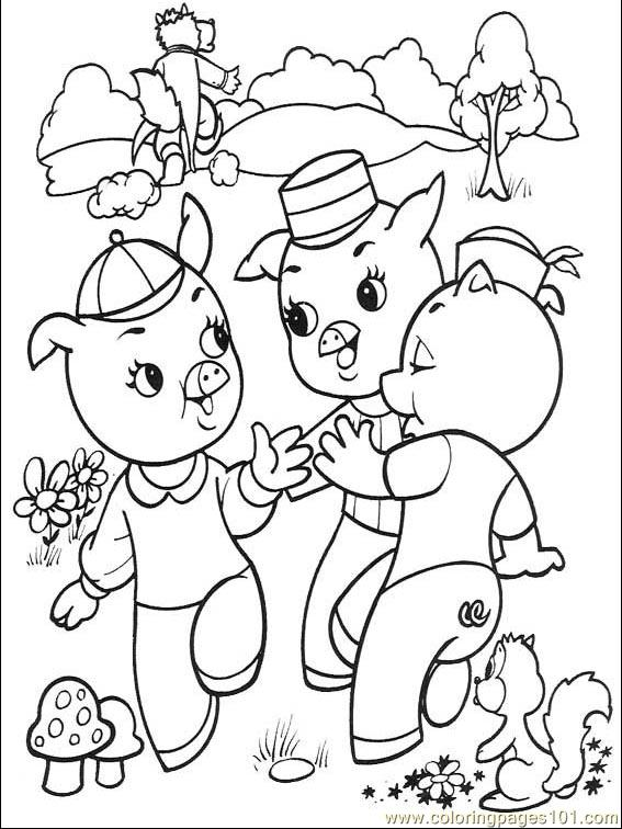 3 little pigs coloring page three little pigs coloring pages the three little pigs story 3 coloring pigs little page
