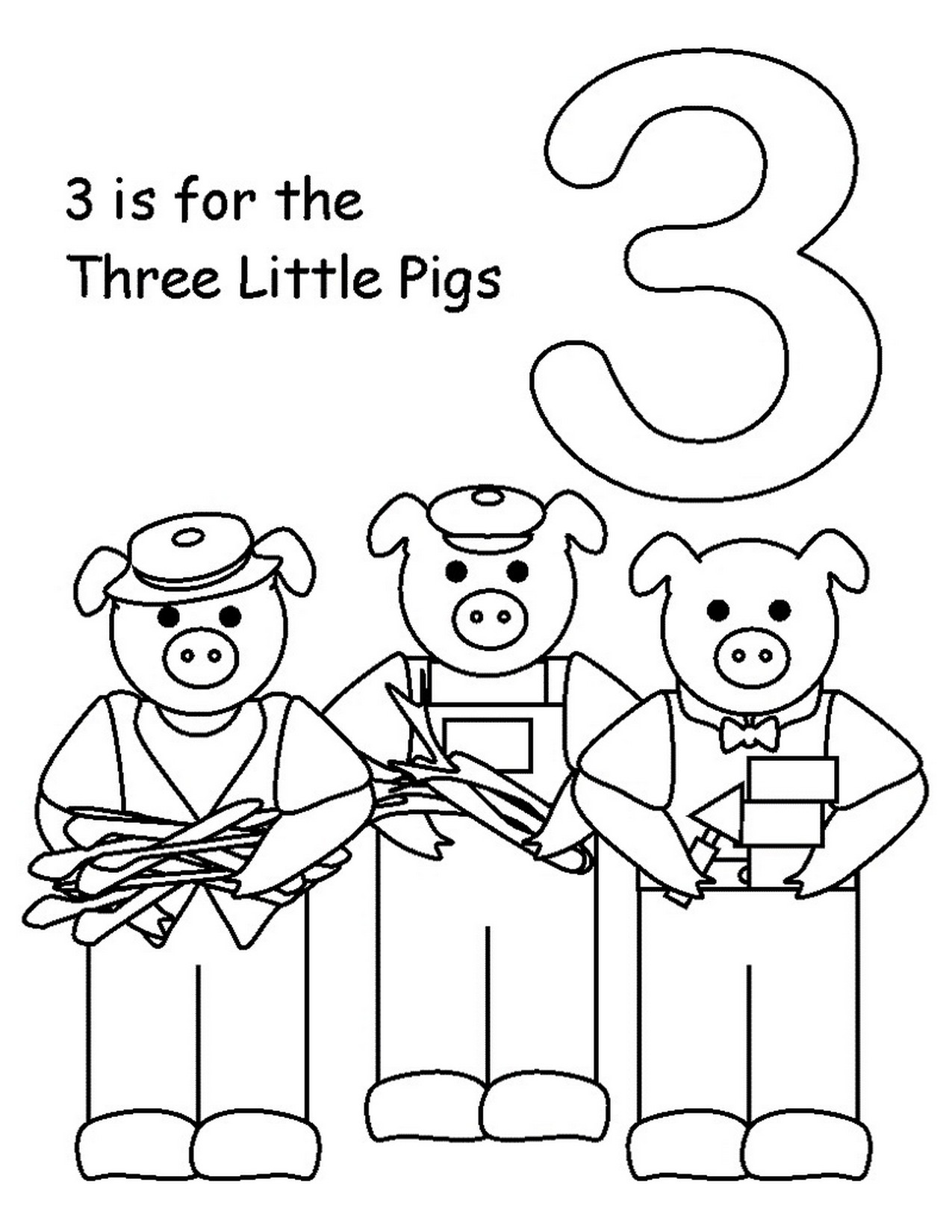 3 little pigs coloring page three little pigs drawing at getdrawings free download little page coloring 3 pigs