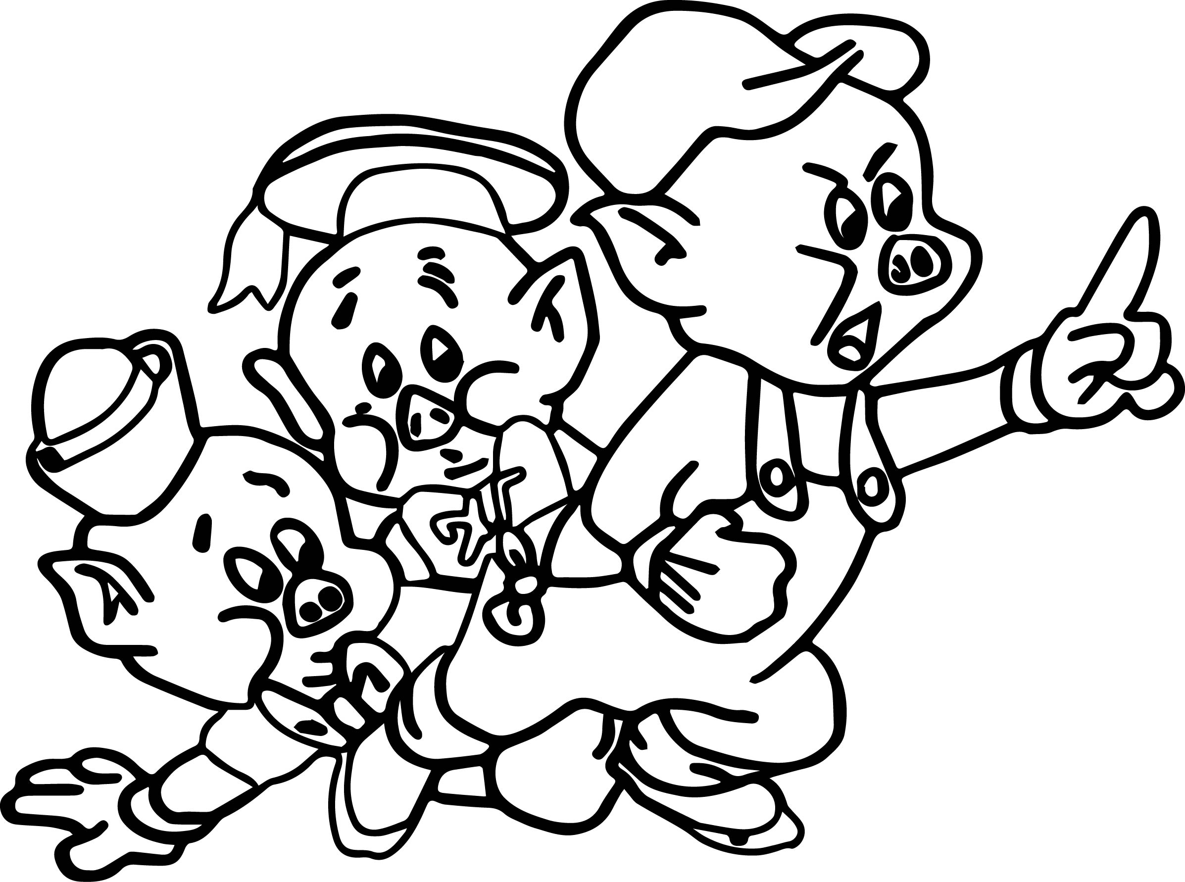 3 little pigs coloring page three little pigs houses coloring pages at getcolorings page pigs 3 little coloring