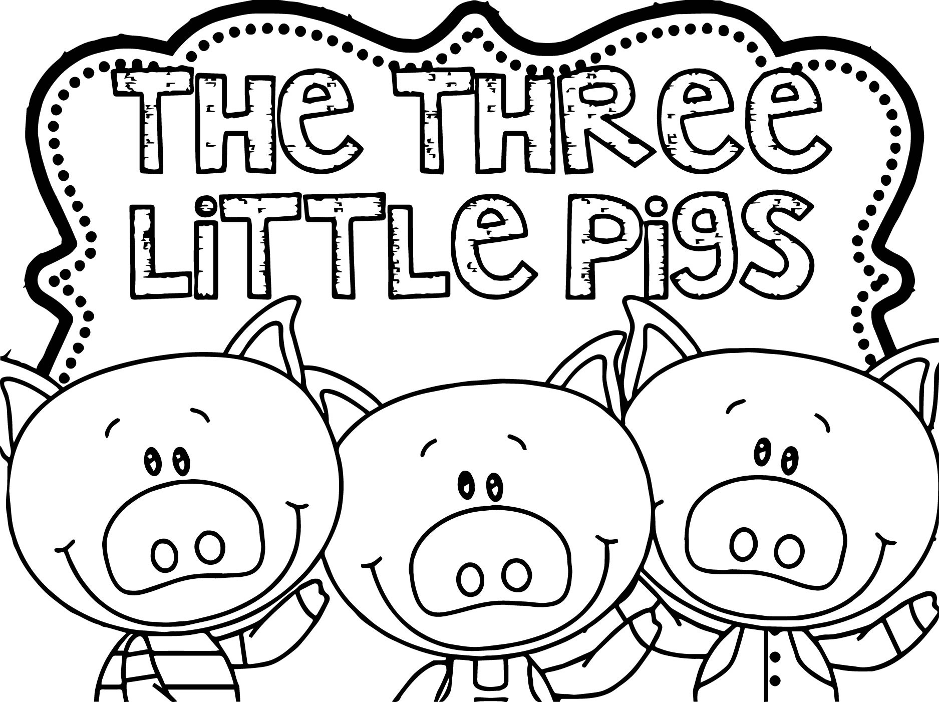 3 little pigs coloring page three little pigs wolf coloring pages food ideas 3 little pigs coloring page