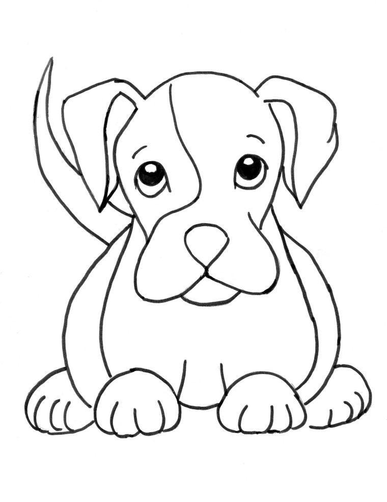 a coloring page of a dog dogs coloring pages a coloring of dog a page
