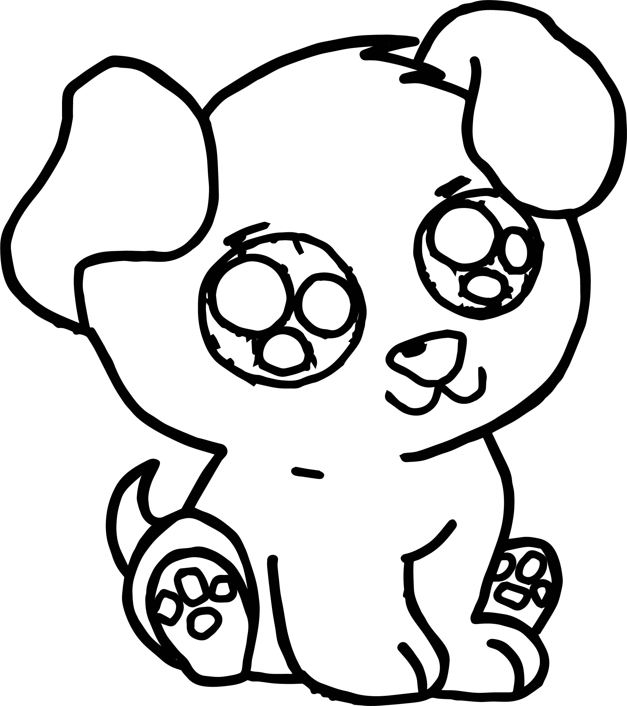 a coloring page of a dog pug coloring pages to download and print for free dog coloring a a of page