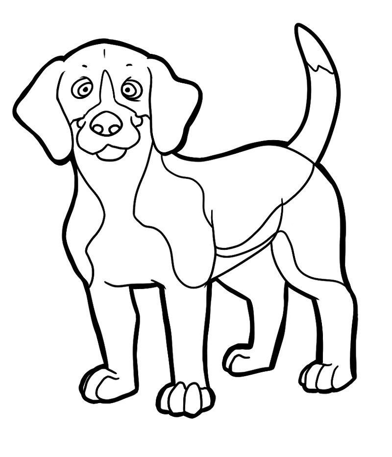 a coloring page of a dog puppy coloring pages best coloring pages for kids coloring page dog a a of