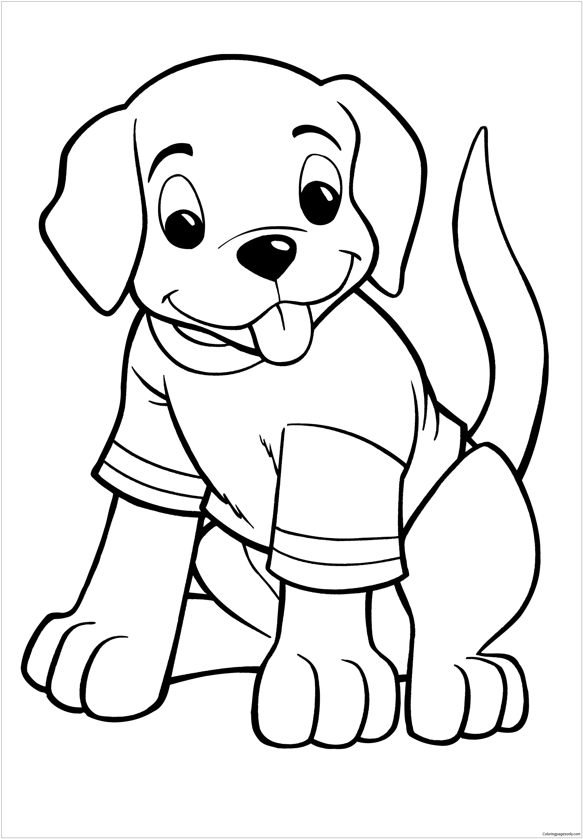 a coloring page of a dog sad puppy coloring pages at getcoloringscom free a of coloring page a dog